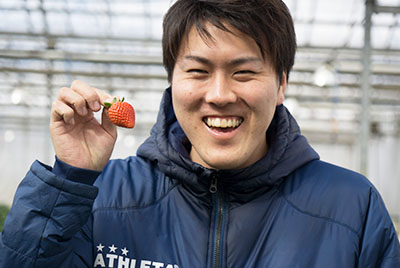 strawberries Producer Ryota Tobisawa